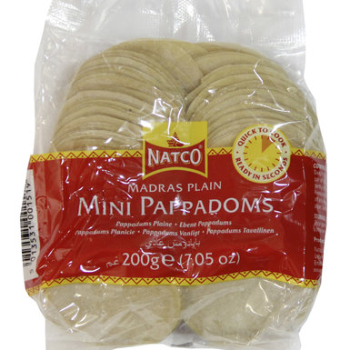 Pappadoms Madras (Coin size)
